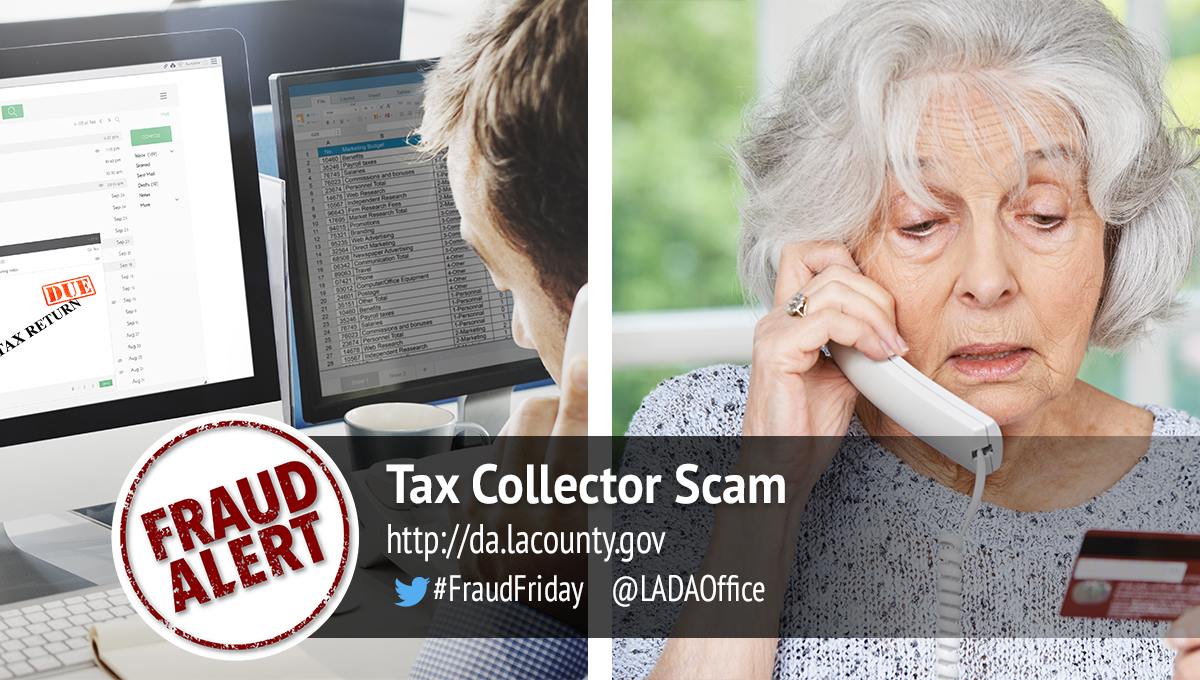 Tax Collector Scam Graphic