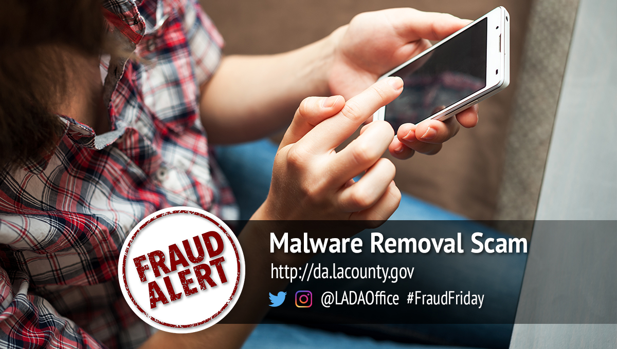 Malware Removal Scam Graphic