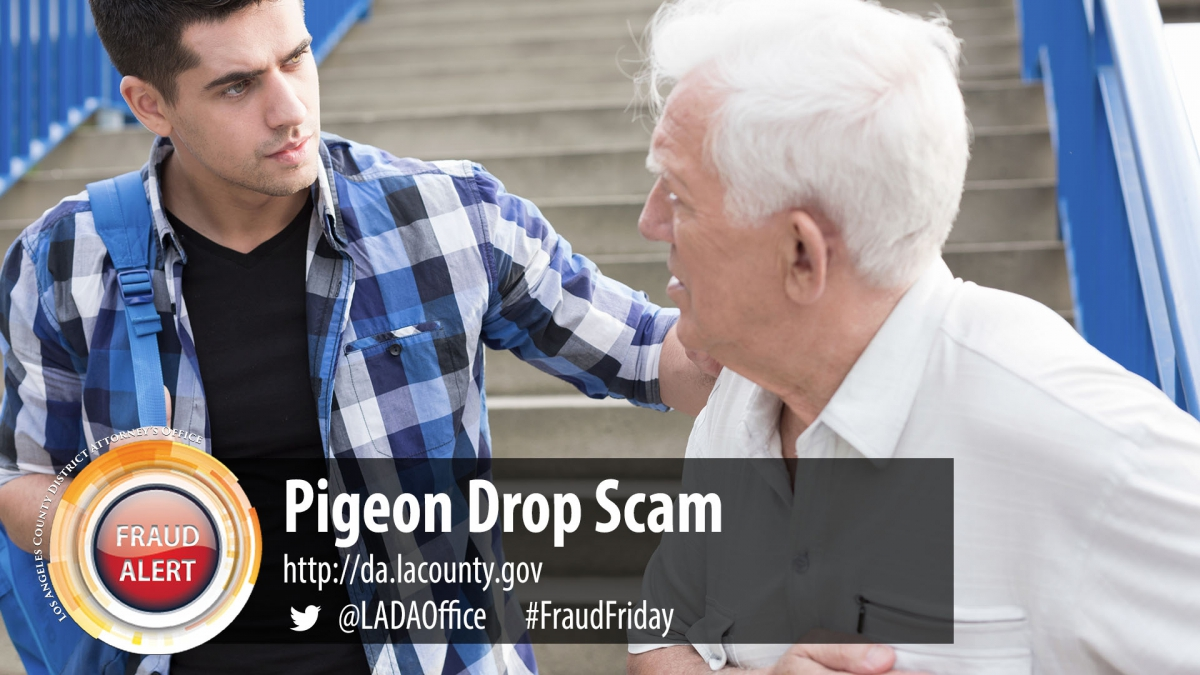 Image of Pigeon Drop Fraud Alert Graphic