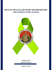 Mental Health Advisory Board Report: A Blueprint for Change cover