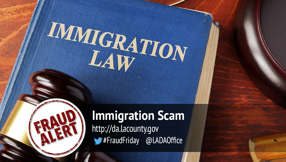 Immigration Scam Graphic