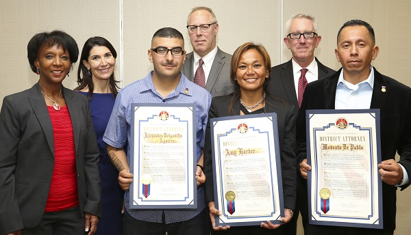 Photograph of Courageous Citizen Award recipients.