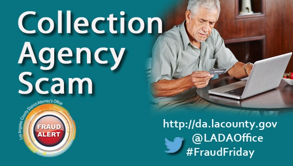 Graphic image of Fraud Alert Collection Agency Scam