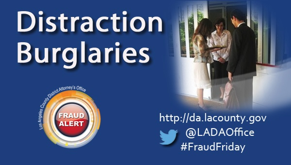 Graphic image of Distraction Burglaries Fraud Alert