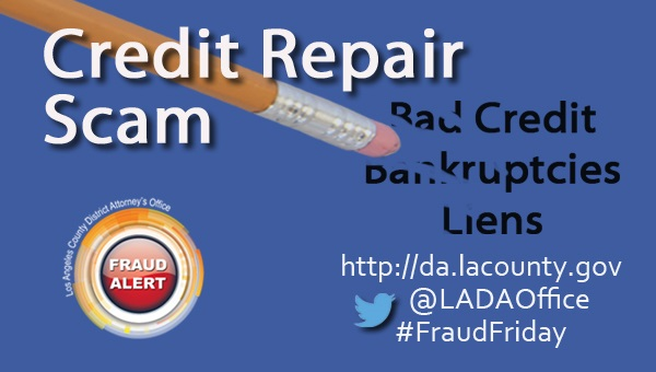 Graphic image of Fraud Friday Credit Repair Scam