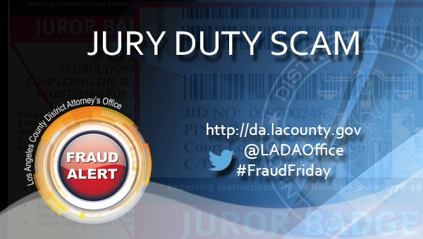 Graphic image for Fraud Friday Jury Duty Scam