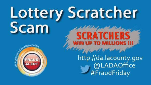 Graphic image for Lottery Scratcher Scam Fraud Alert