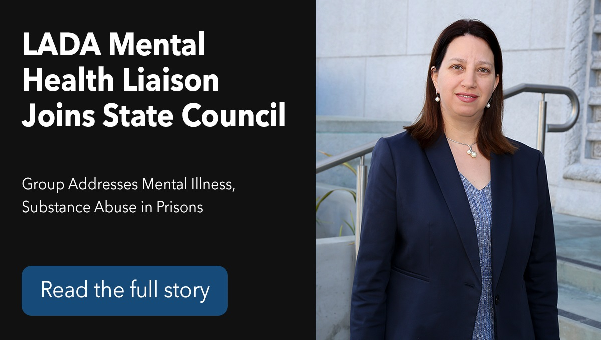 LADA Mental Health Liaison Joins State Council