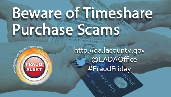 Graphic Image for Timeshare Purchase Scam Fraud Alert