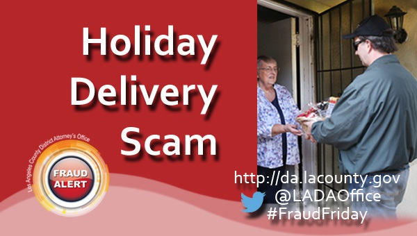 Graphic image of Fraud Friday Holiday Delivery Scam